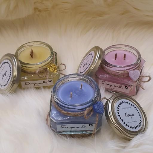 خرید جا شمعی شیشه ای   انواع جار شیشه ای کوچک