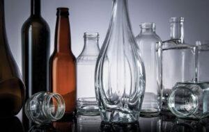 بطری های شیشه ای رنگی