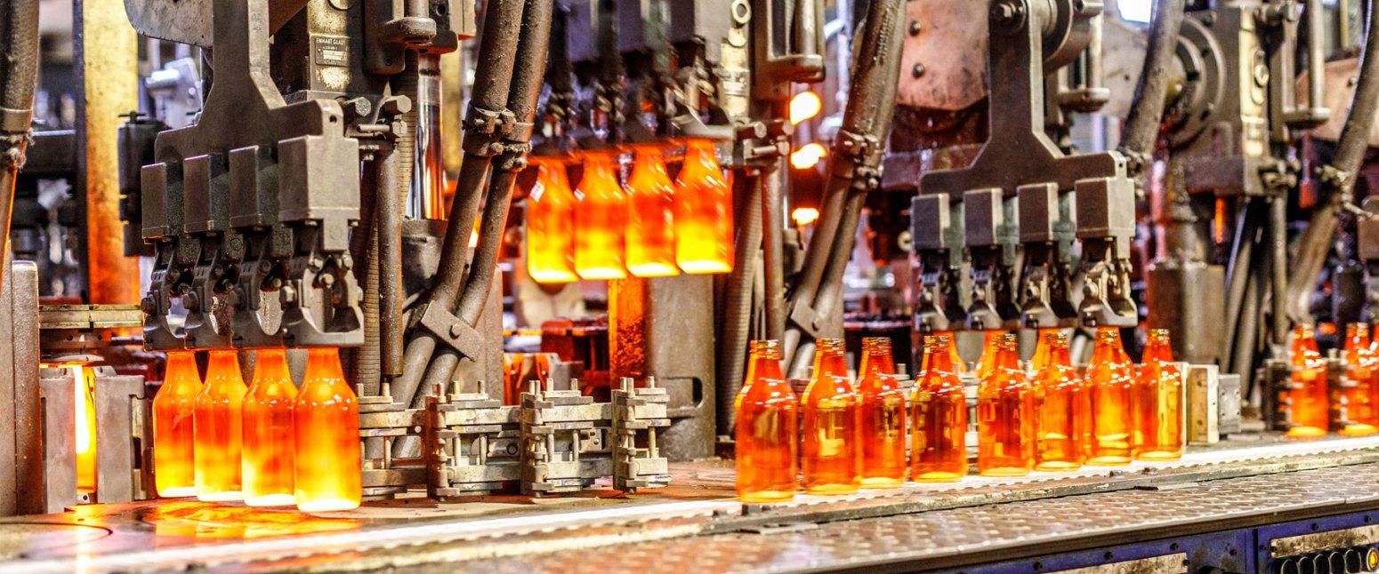 کارخانه بطری شیشه ای