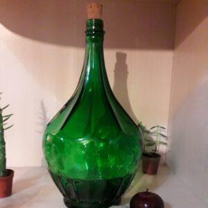بطری شیشه ای رنگی با چوب پنبه