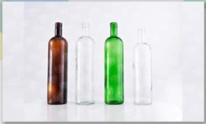 بطری شیشه ای رنگی